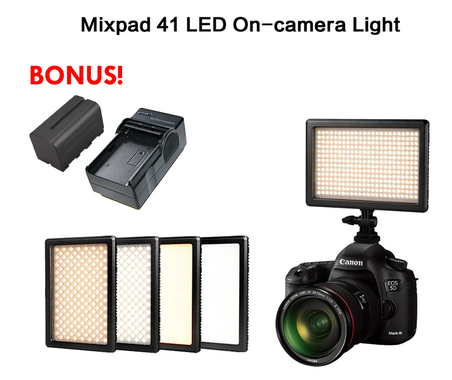 Nanguang CN-MIXPAD41 (Mixpad 41) ULTRA SLIM 440 LED + LEM VIDEO LIGHT