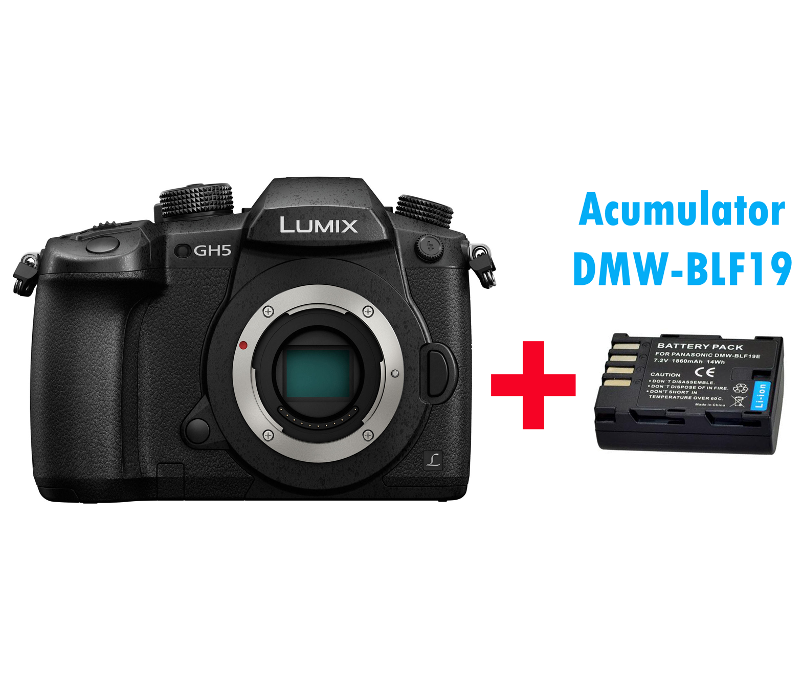 PANASONIC LUMIX DC-GH5 (GH5) Mirrorless MFT Digital Camera 6K Body