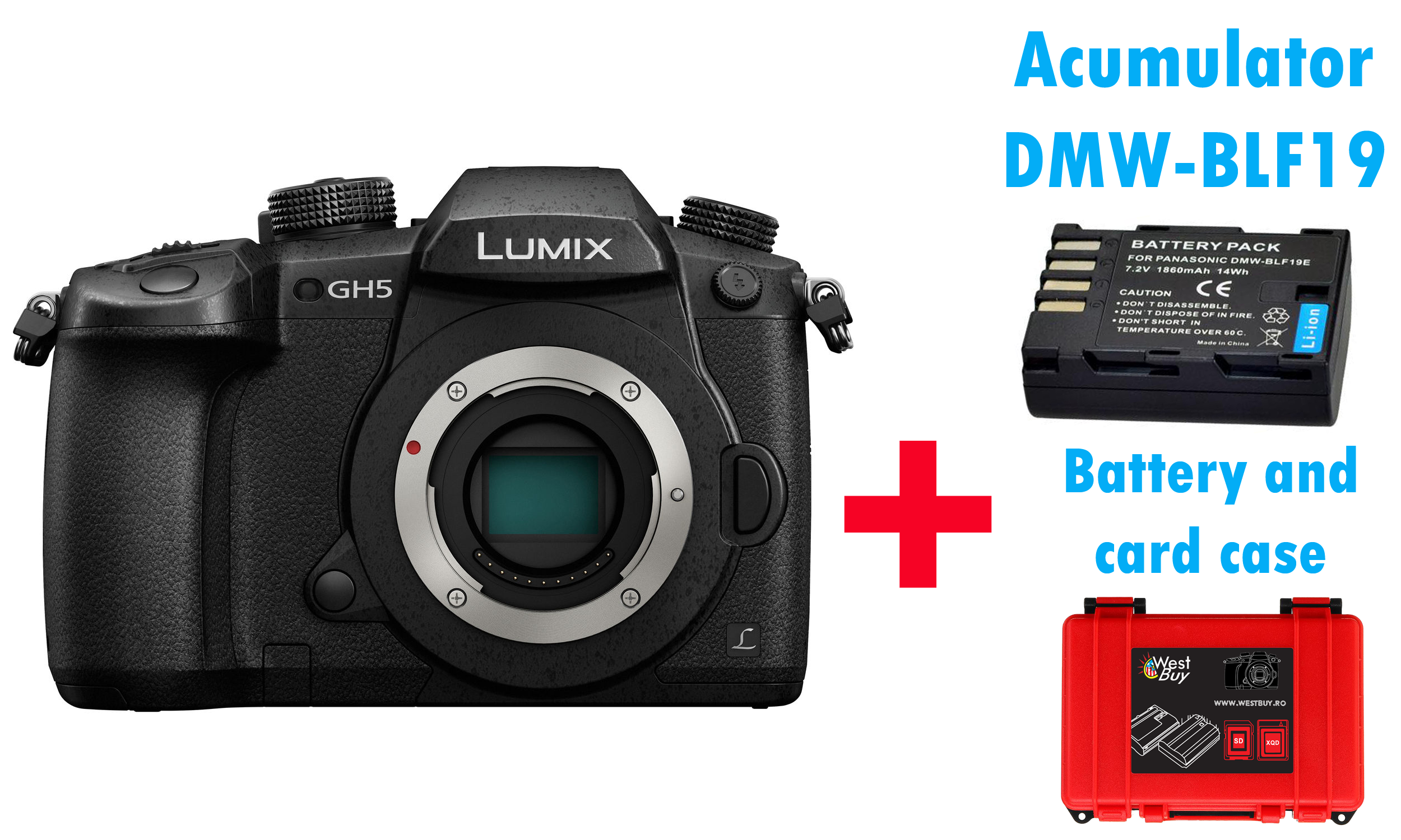 PANASONIC LUMIX DC-GH5 (GH5) Mirrorless MFT Digital Camera 6K Body + BONUS