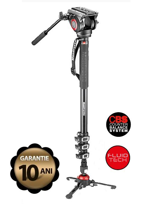 MANFROTTO MVMXPRO500 ALUMINIUM VIDEO MONOPOD WITH FLUIDTECH BASE