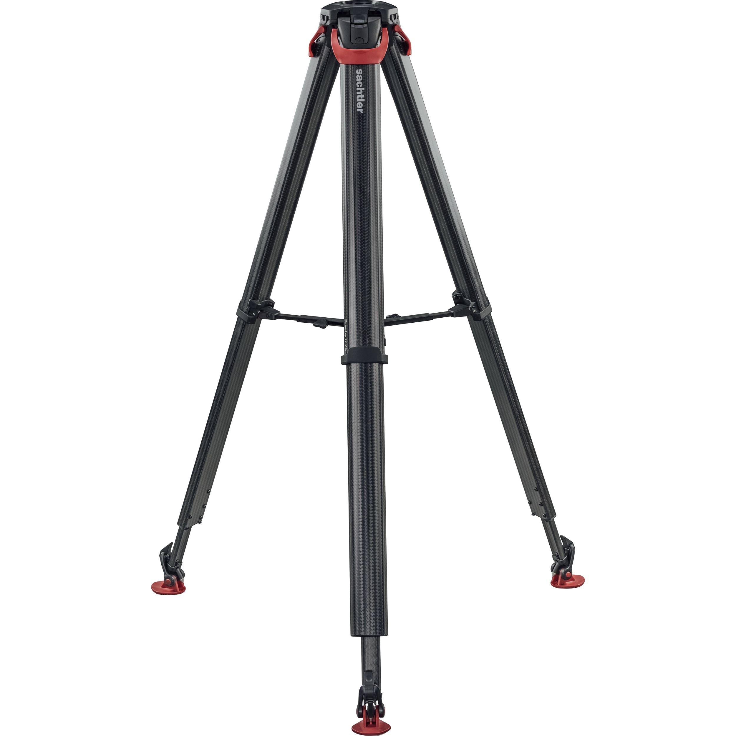 SACHTLER 4585 FLOWTECH 75 CARBON FIBER TRIPOD WITH MID-LEVEL SPREADER AND RUBBER FEET