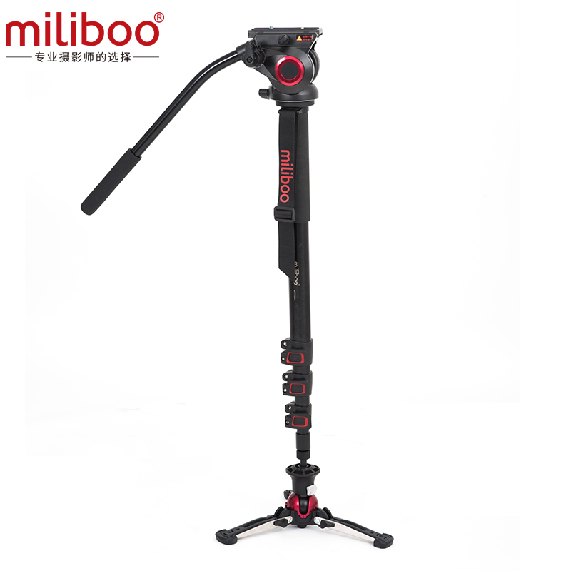 MILIBOO MTT705AS AL FLUIDTECH BASE MONOPOD + MYT801 VIDEO HEAD 8KG