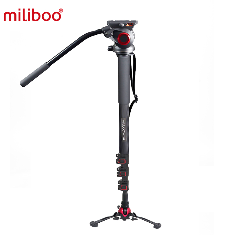 MILIBOO MTT705BS CARBON FIBER FLUIDTECH BASE MONOPOD + MYT801 VIDEO HEAD 8KG