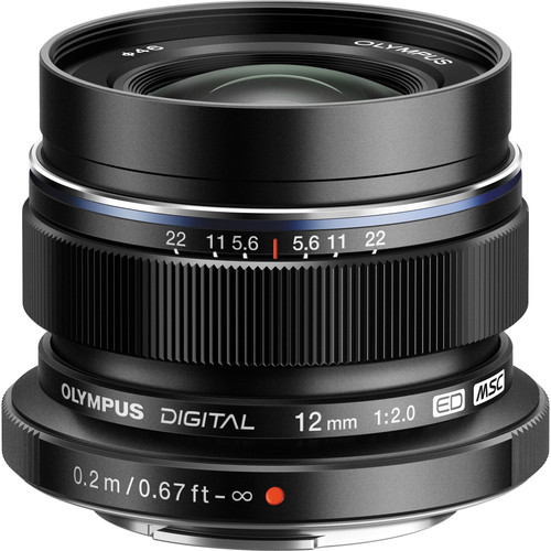 OLYMPUS M.ZUIKO DIGITAL ED 12mm f/2.0 (BLACK) LENS
