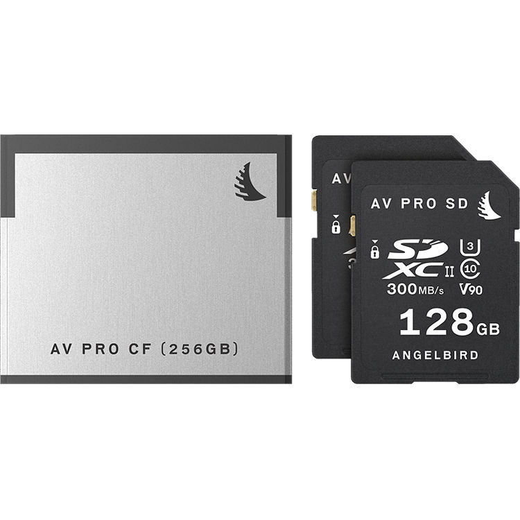ANGELBIRD AB-MP-C200 CANON C200 MATCH 3 PACK AVPro 2x128GB SDXC and 1x256GB CFast 2.0