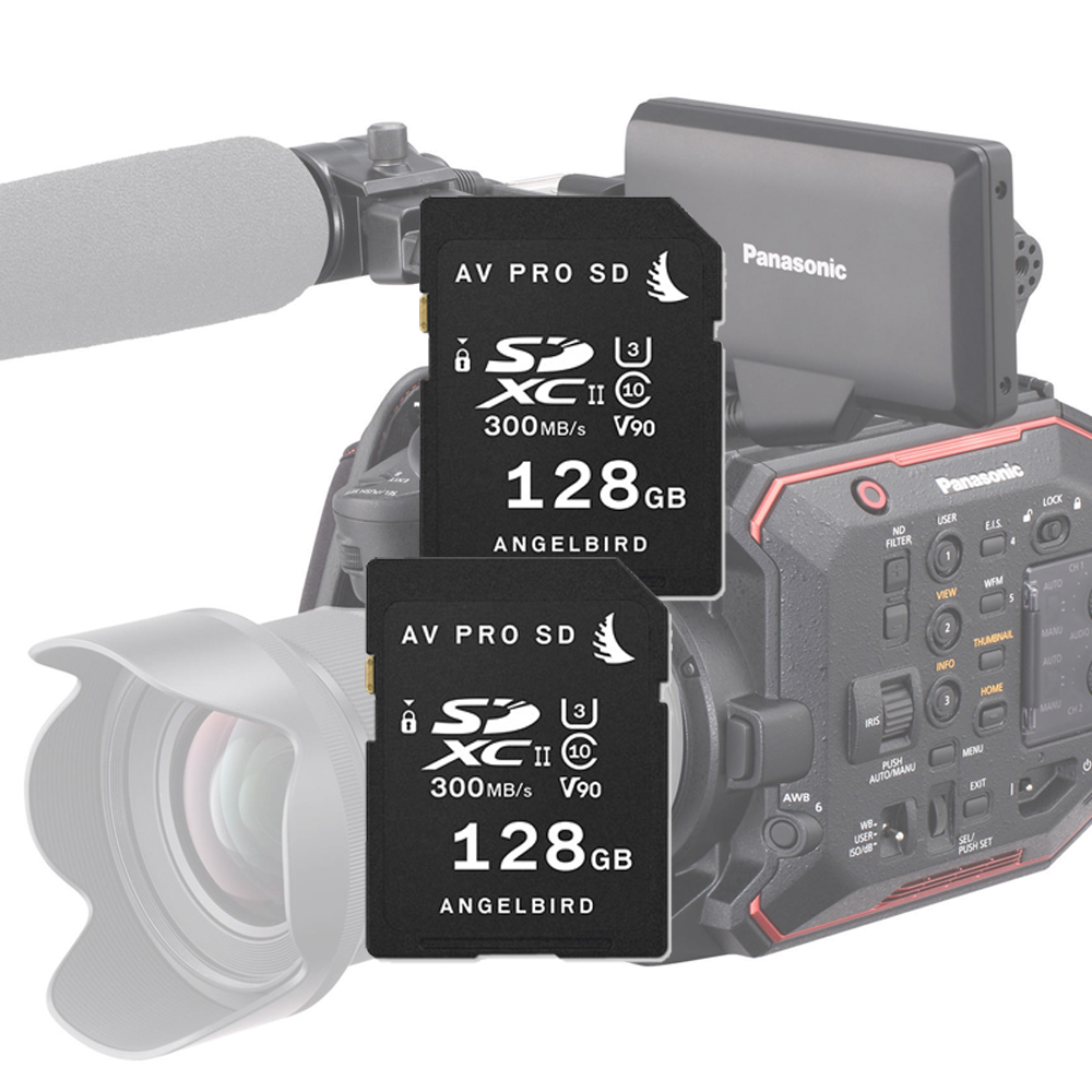 ANGELBIRD AVP MP-EVA1/ GH5 MATCH PACK 2 X 128GB SDXC UHS-II CLASS10 V90 FOR PANASONIC EVA1/ GH5