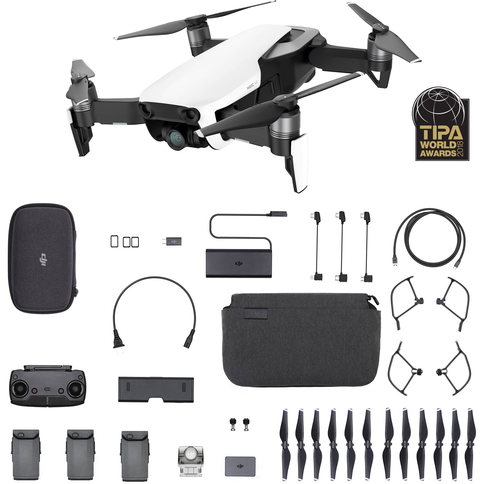 DJI MAVIC AIR Fly More Combo (EU) White / Black