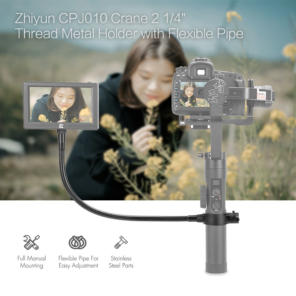 Zhiyun-Tech 1/4 inch Thread Metal Holder With Flexible Pipe