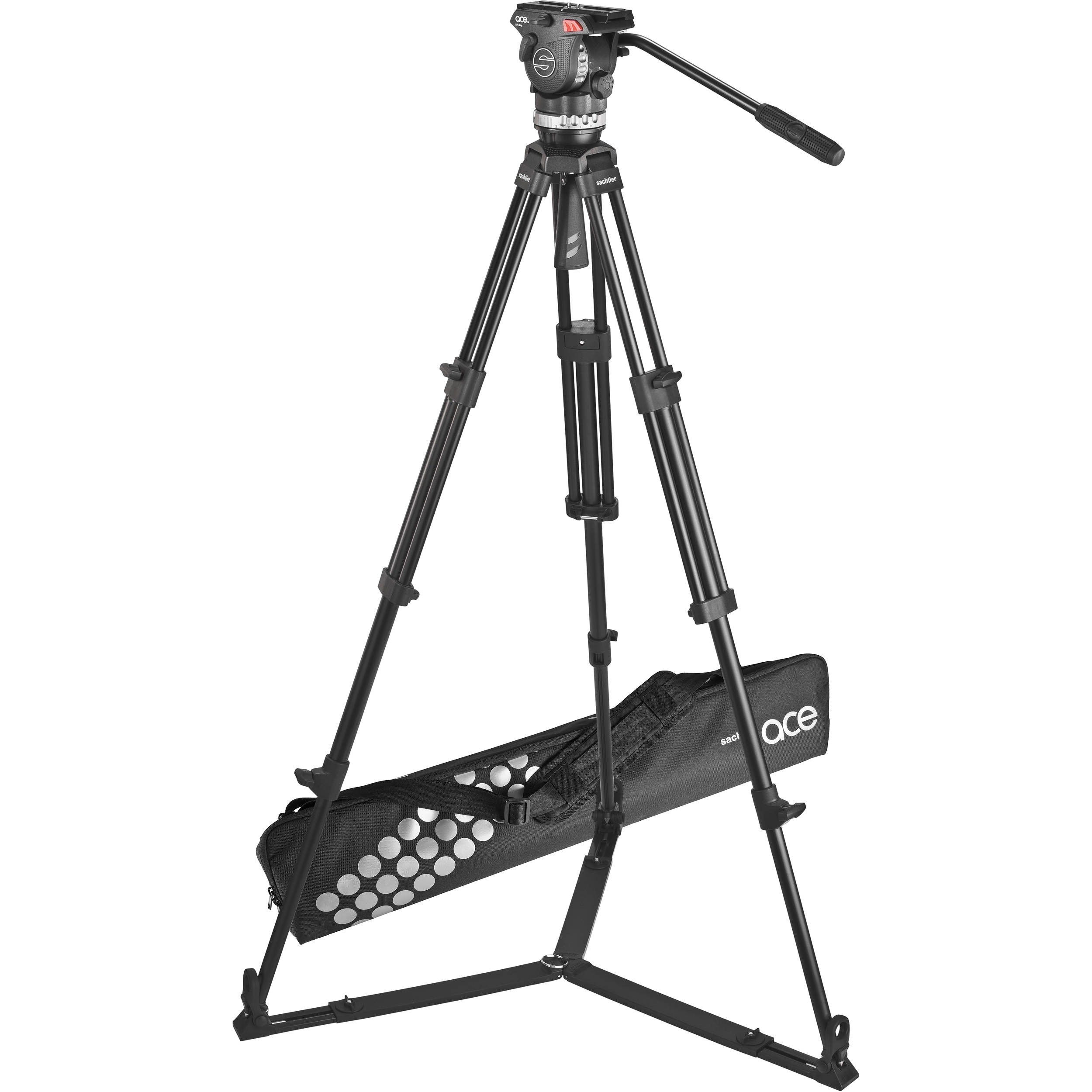 SACHTLER ACE M GS 1002 VIDEO TRIPOD SYSTEM WITH FLUID HEAD (0 - 4 Kg)