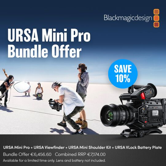 Kit Blackmagic Design URSA Mini Pro + URSA Viewfinder + URSA Mini Shoulder Kit + URSA VLock Battery