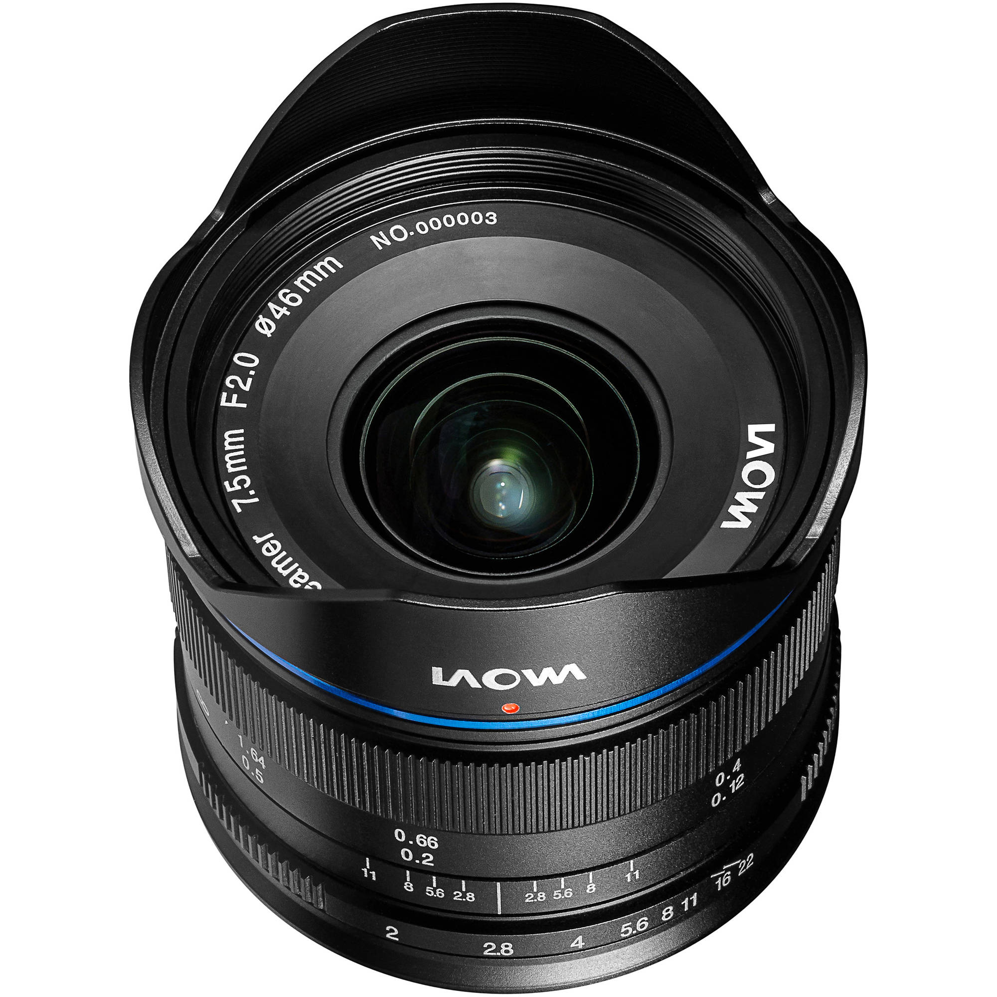 Venus Optics Laowa 7.5mm f/2 MFT Lens for Micro Four Thirds (Lightweight Black)