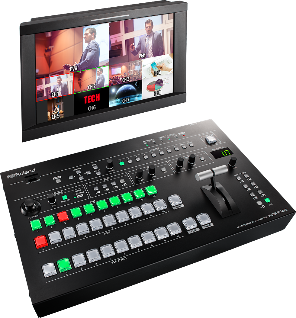 Roland V-800HD MKII Multi-Format Video Switcher