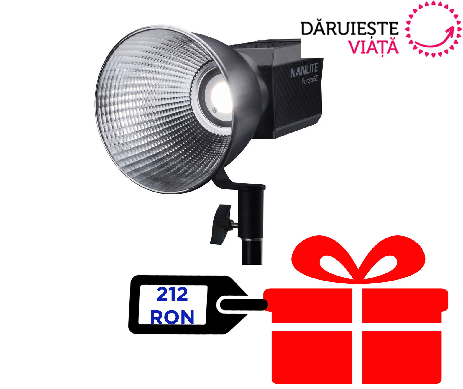 Nanlite Forza 60 LED Monolight 11950 LUX