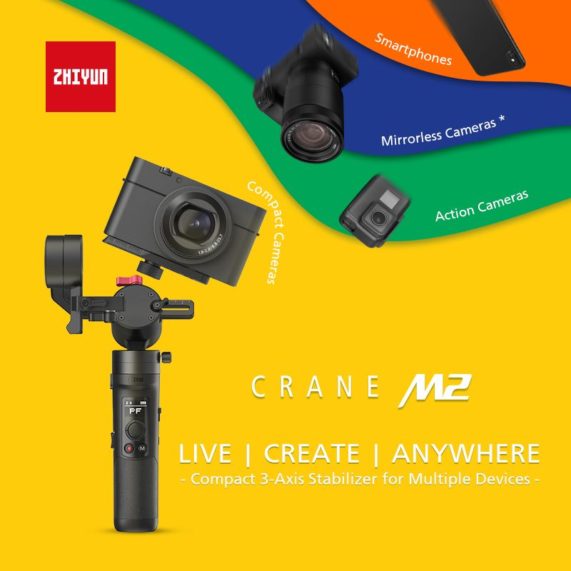 Zhiyun-Tech Crane M2 Compact 3-Axis Stabilizer for Multiple Devices