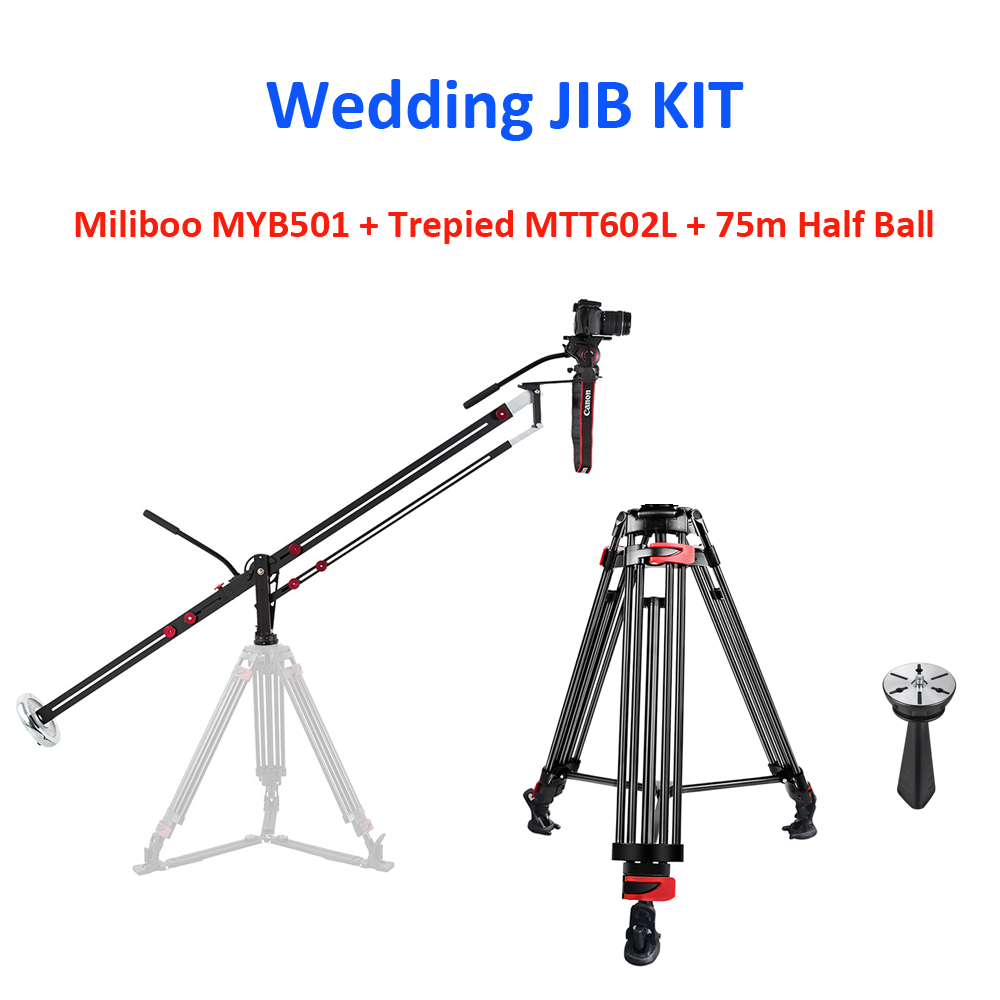 WEDDING JIB KIT: Miliboo MYB501 + Trepied MTT602L + 75mm Ball