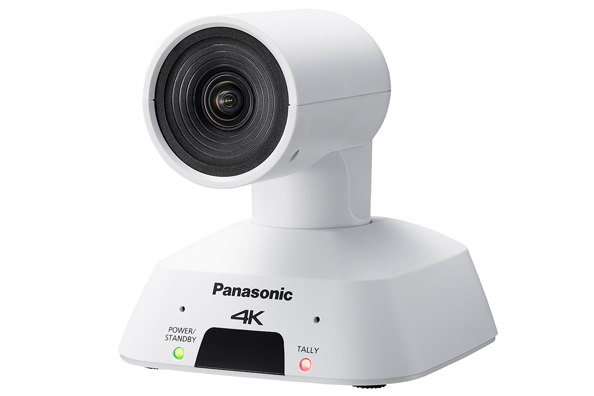 Panasonic AW-UE4 Wide Angle 4K PTZ Camera with IP Streaming (White)
