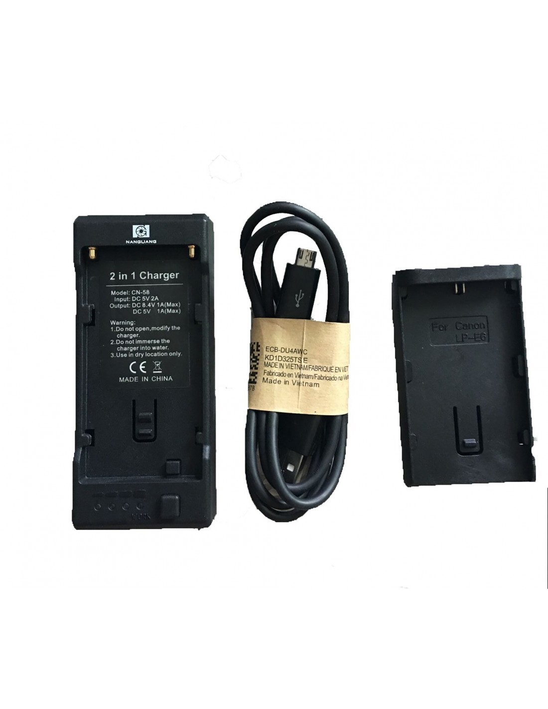 NanGuang CN-58 2-in-1 Battery Charger for NP-F970 / 750 / 550 / Nikon EN-EL15