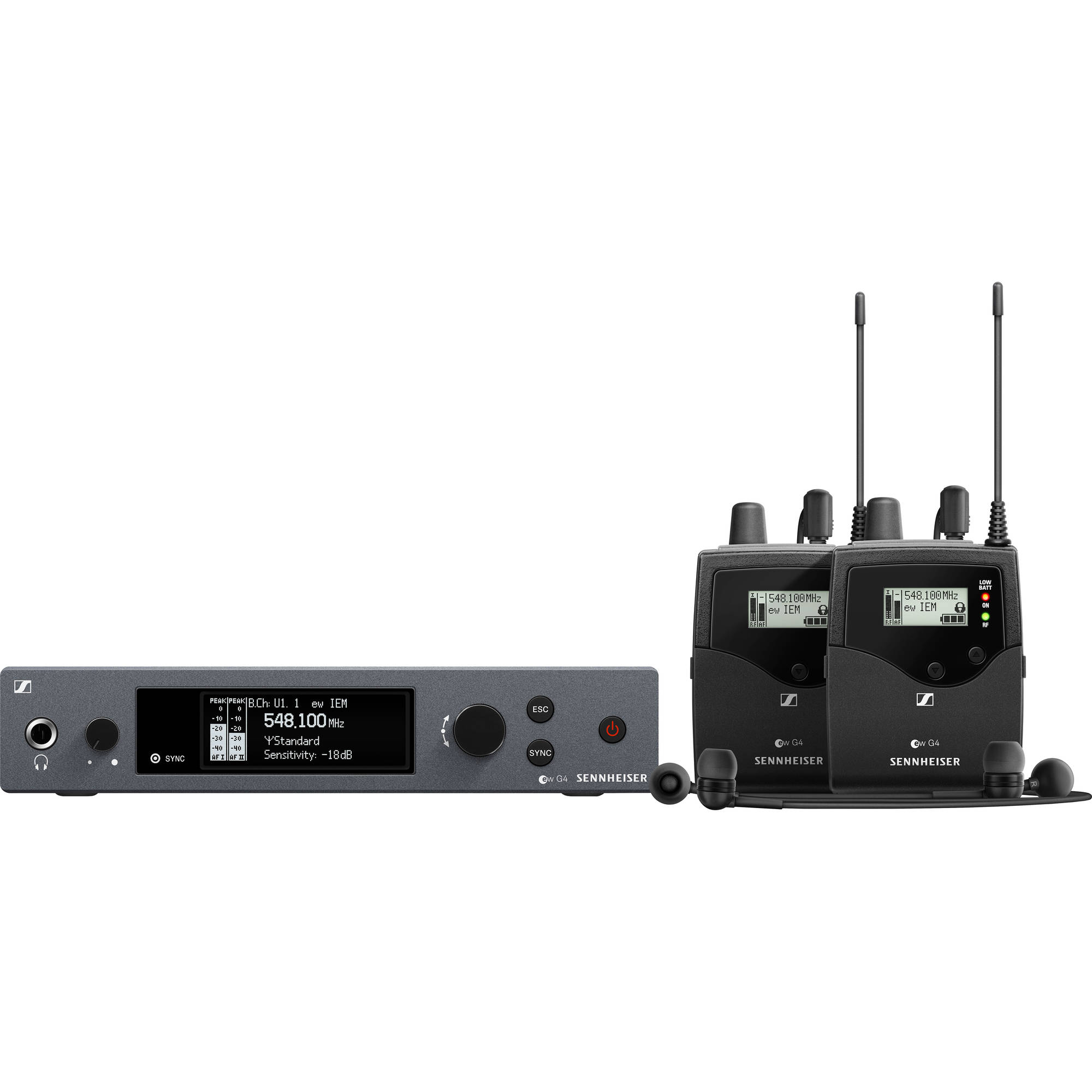 Sennheiser EW IEM G4-TWIN-B Wireless Monitor System