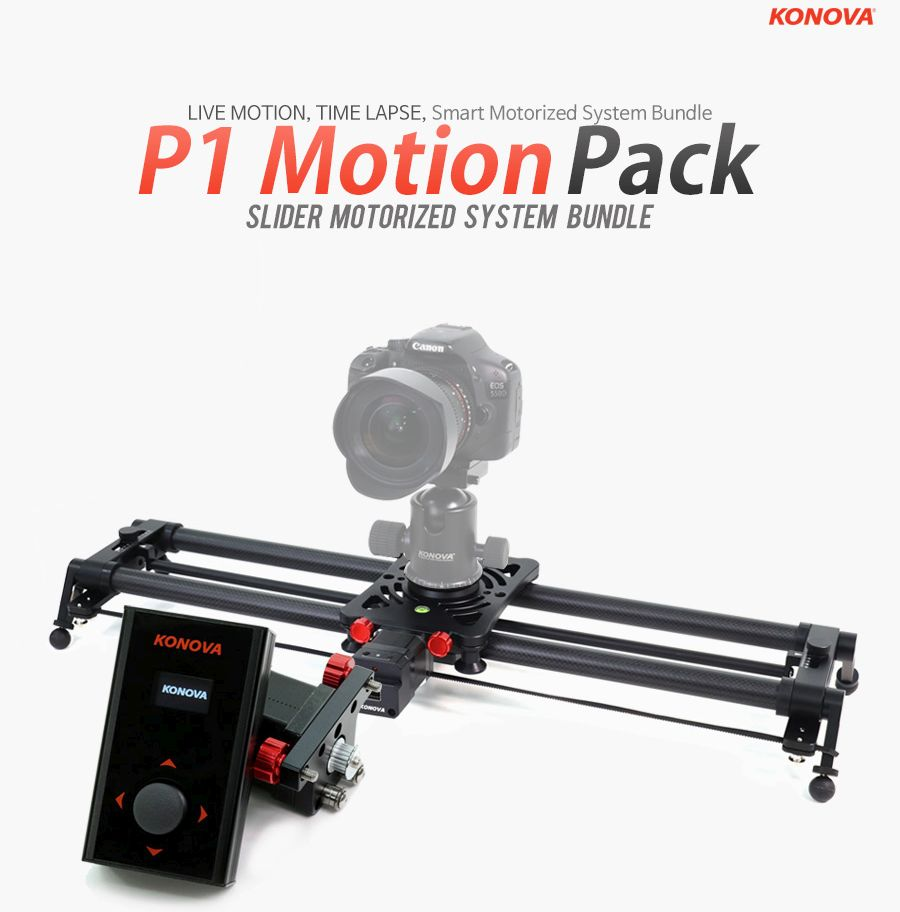 Konova P1 KMS S2 Motorized Carbon Camera Slider 60 cm + Parallax + Timelapse
