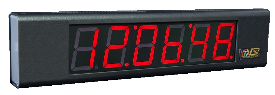Video Solutions Time Clock Display