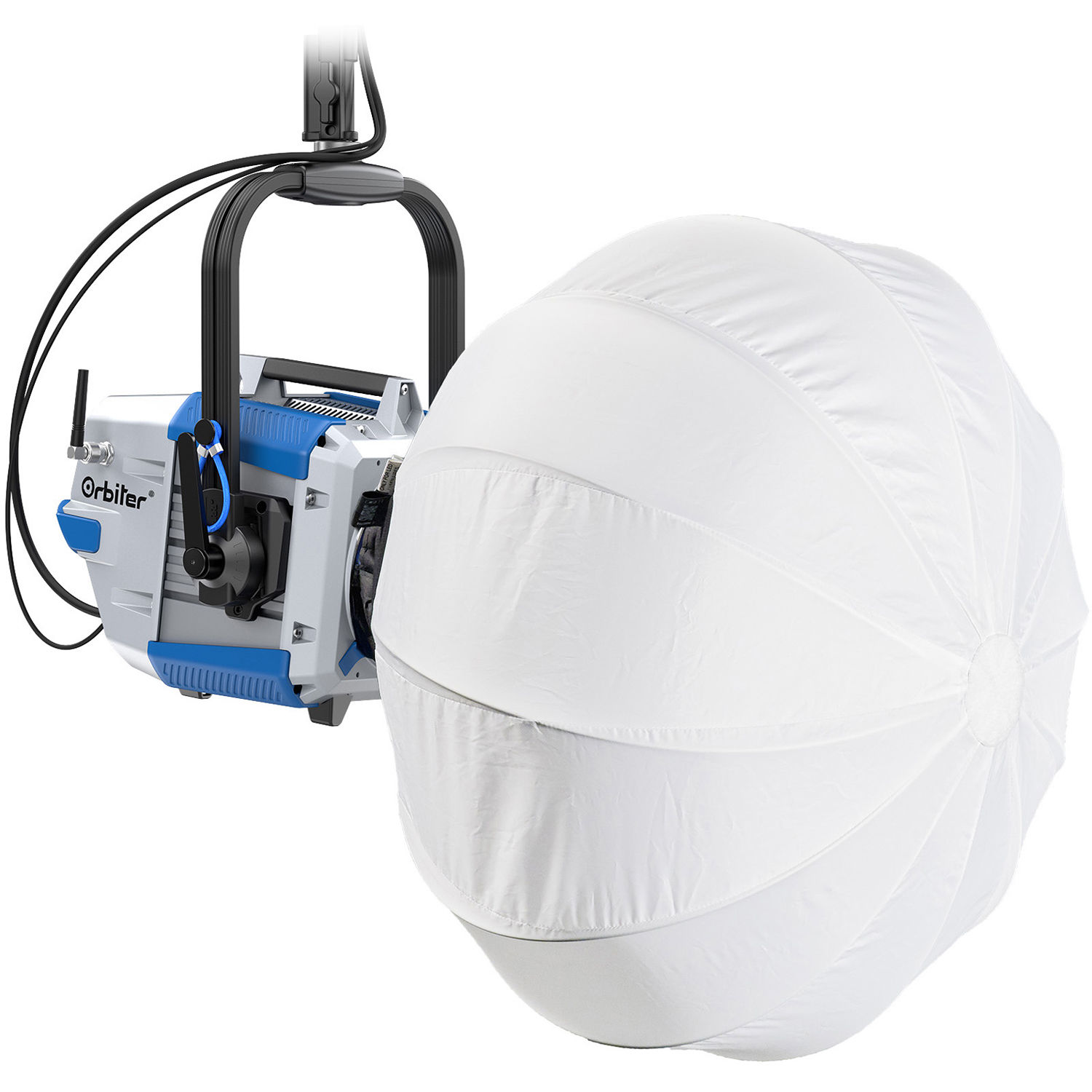 ARRI ORBITER Dome M Ultra-Bright, Tunable and Directional LED Light DoPchoice - Blue/Silver, Schuko