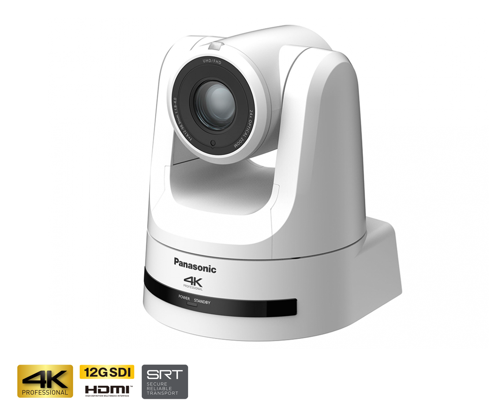 Panasonic AW-UE100 4K NDI Professional PTZ Camera (White)
