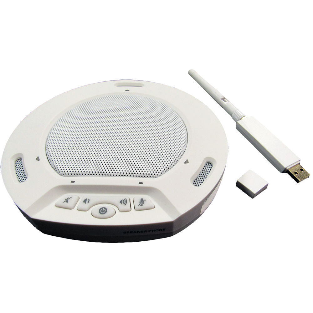 HuddleCamHD HuddlePod Air Wireless USB 2.0 Speakerphone (Black / White)