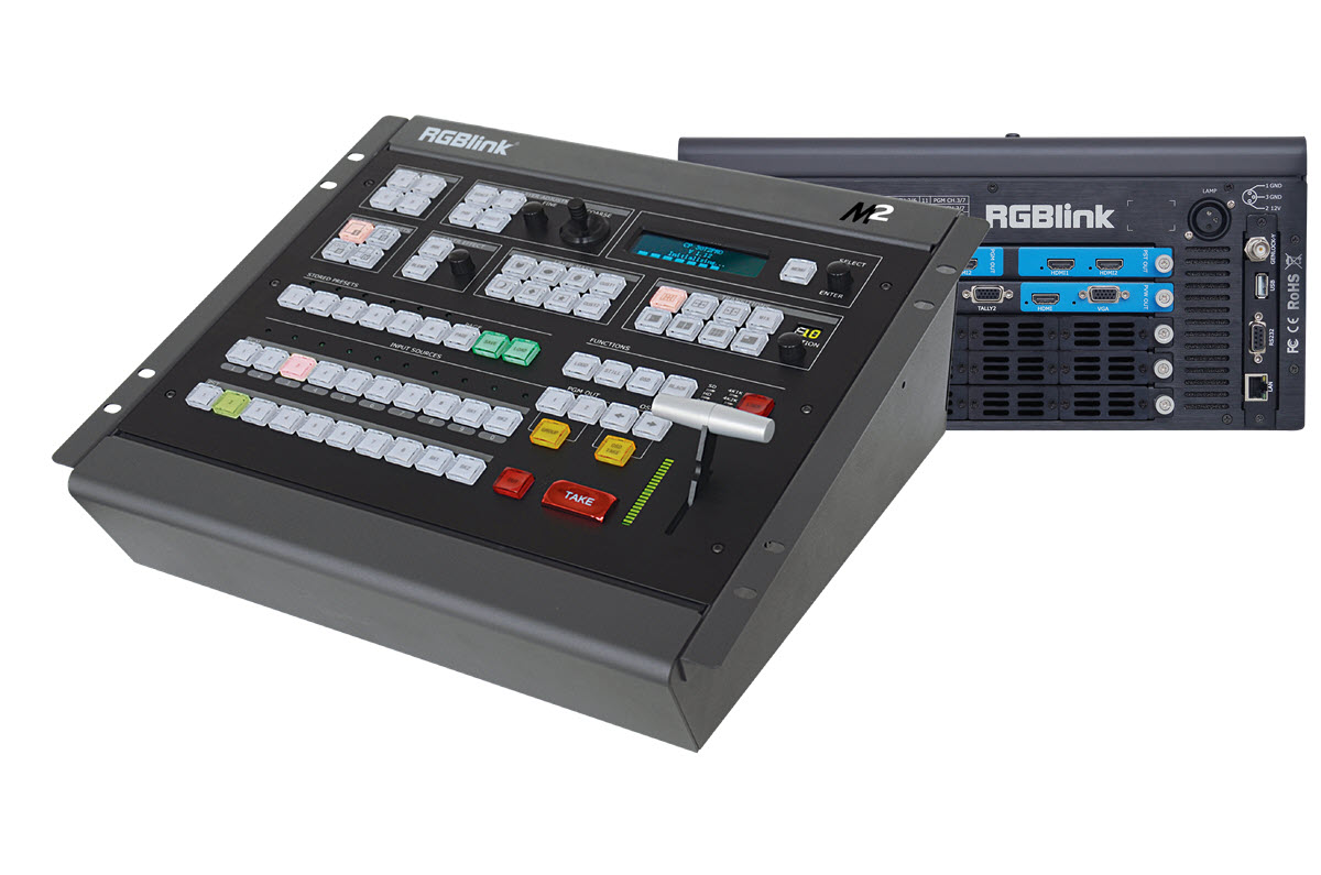 RGBlink M2S Presentation Processor and Vision Switcher Led Display Controller SDI Outputs / 9 Inputs