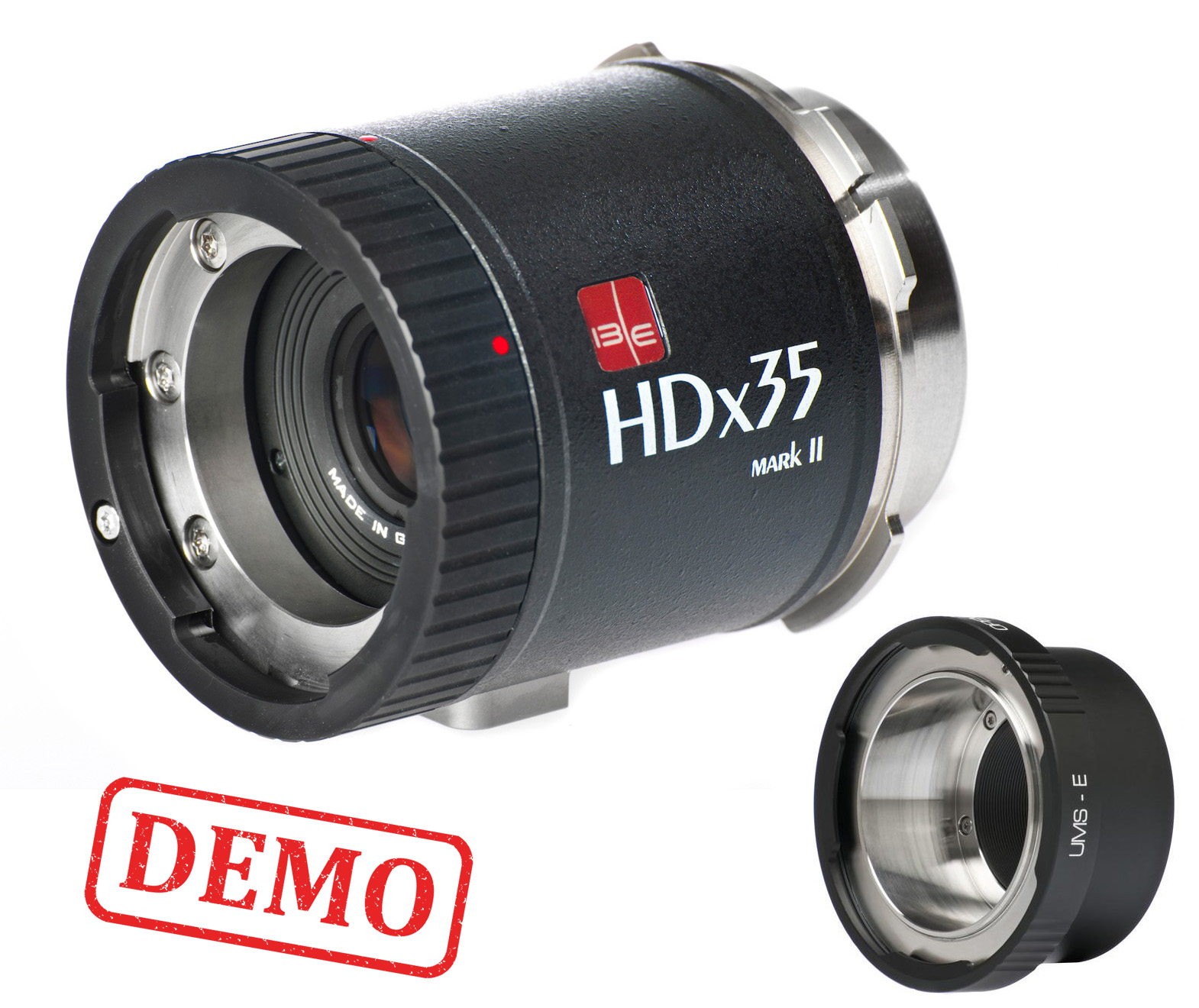 DEMO - IBE OPTICS HDx35 Mark II B4 to PL UMS Optical Converter (2.6x) + Sony UMS-E adapter