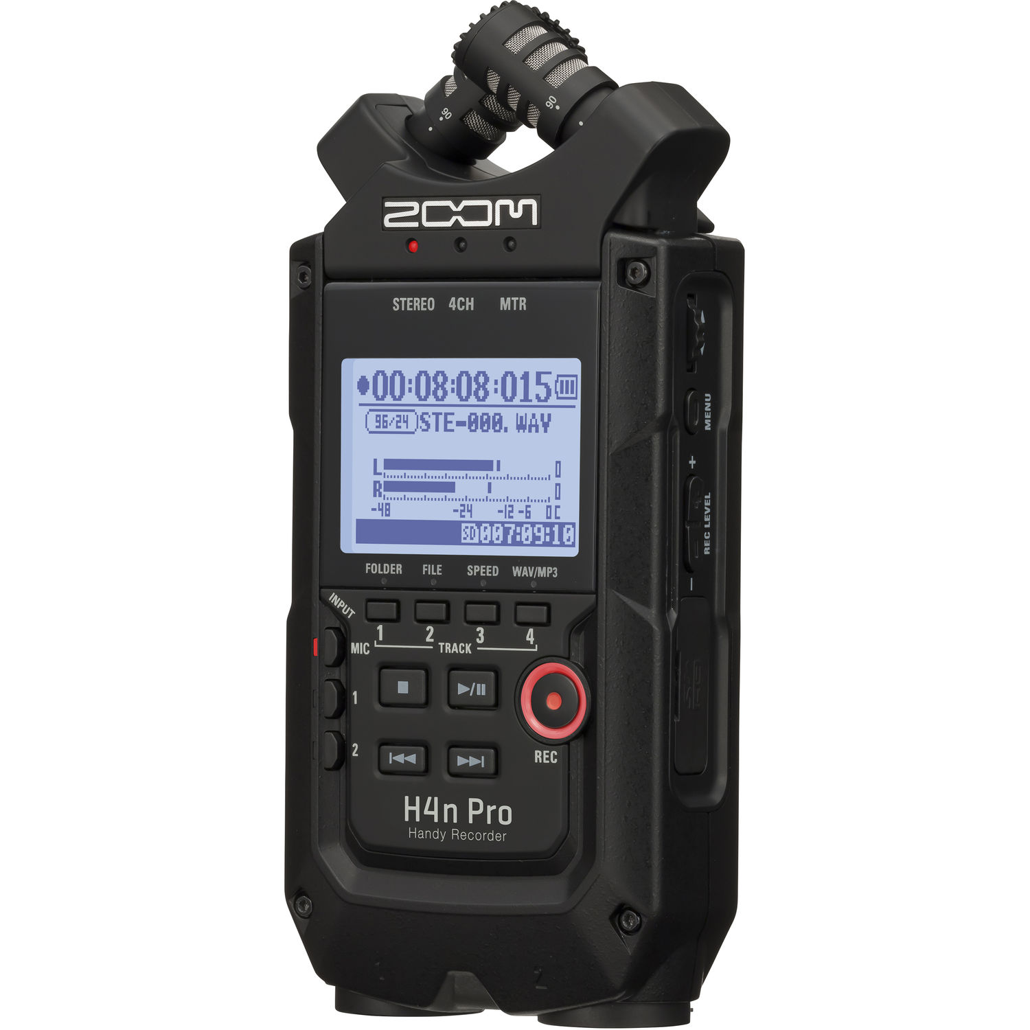 Zoom H4n Pro 4-Input / 4-Track Portable Handy Recorder with Onboard X/Y Mic Capsule (Black)