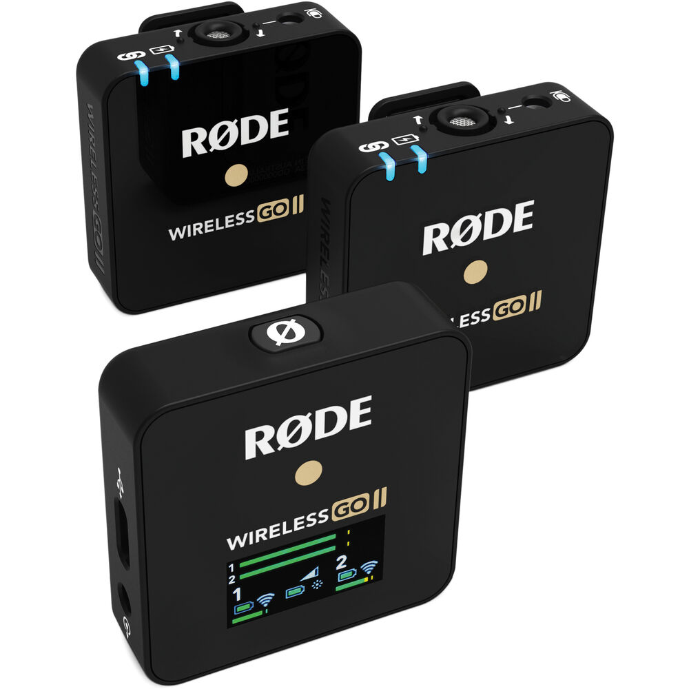 Rode Wireless GO II 2-Person Compact Digital Wireless Microphone System/Recorder (2.4 GHz)