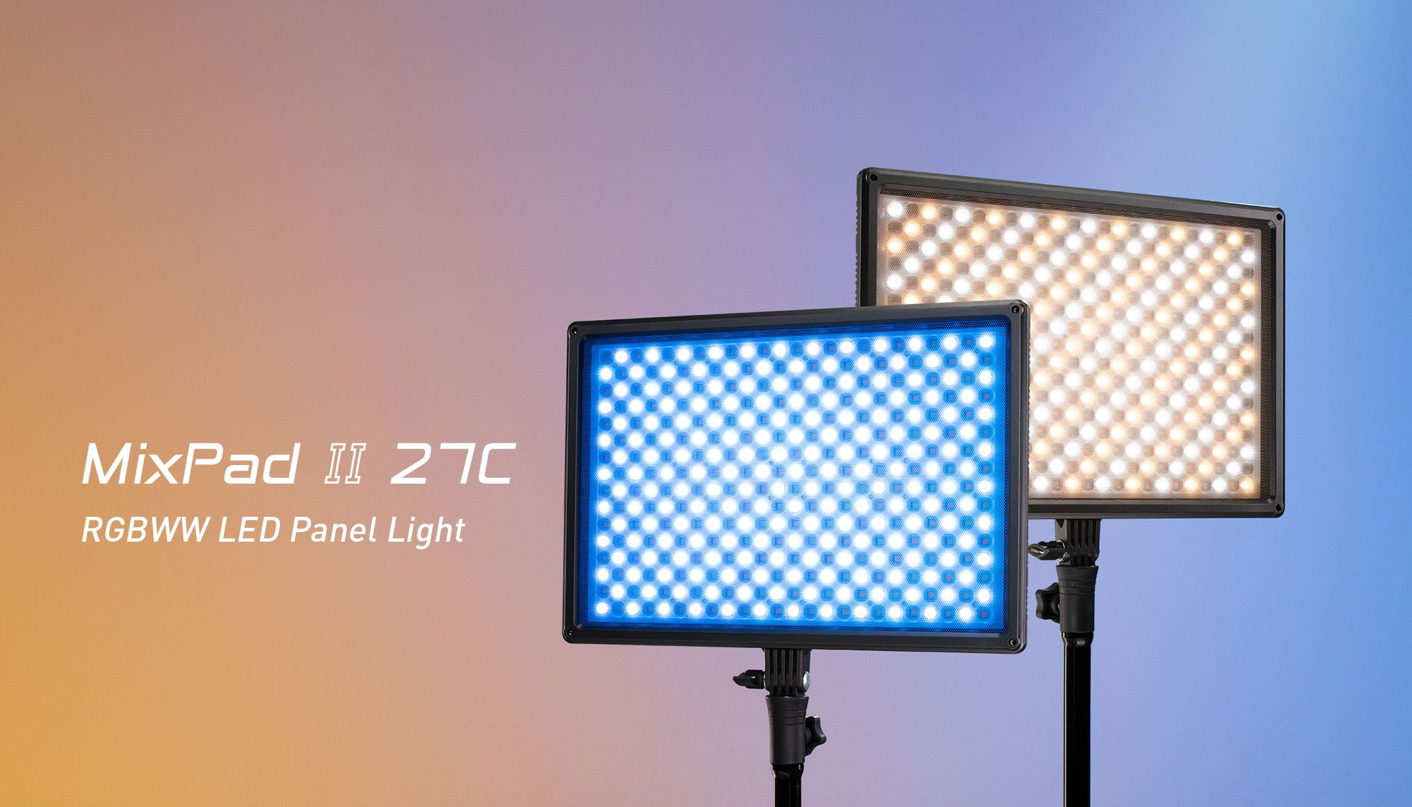 Nanlite MixPad II 27C RGBWW Hard and Soft Light LED Panel