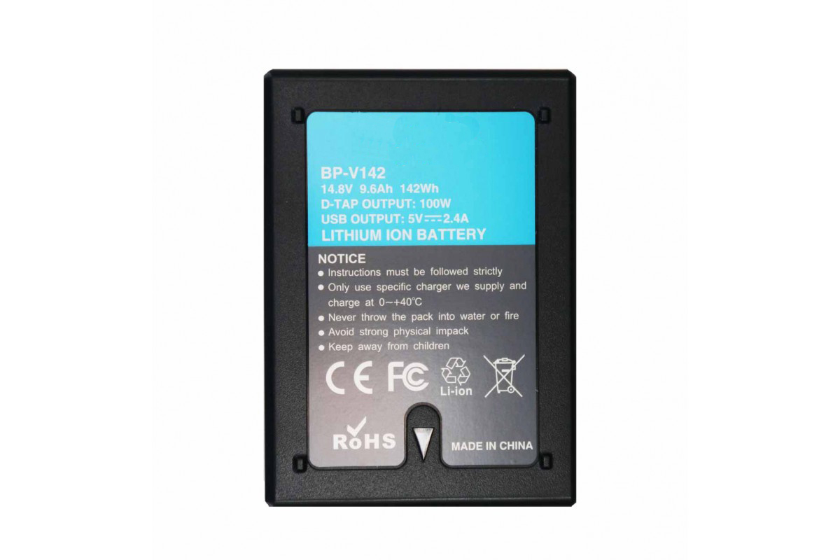 Digital Power BP-V142 Small V-Mount Lock Battery Li-Ion 14.4V / 142Wh