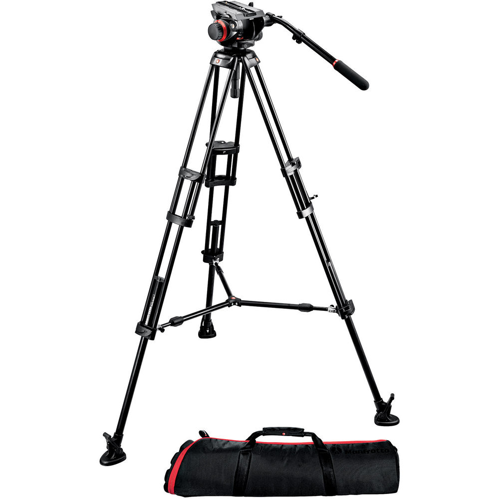 MANFROTTO 504HD Fluid Head  Kit With 546B Video Tripod (7.5Kg)